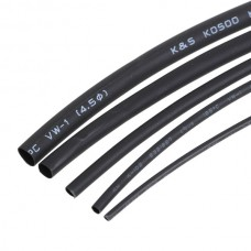 3M Black Heat Shrink Tubing - Five Size Pack (0.8/1.5/2.5/3.5/5mm)