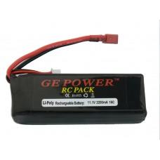 GE POWER 11.1V 2200mAh 15C 3cell Li-Po RC Battery