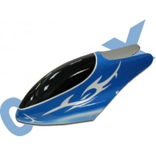 CopterX 450 Helicoptor Part: Glass Fibre Canopy (blue w/ white pattern) No: CX450-07-10
