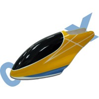 CopterX 450 Helicoptor Part: Glass Fibre Canopy (yellow+blue+white lines) No: CX450-07-13