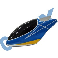 CopterX 450 Helicoptor Part: Glass Fibre Canopy (blue+yellow+white lines) No: CX450-07-14