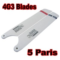 5 Pairs WOOD Main Blade For Walkera 4G3 HM-4G3-Z-01