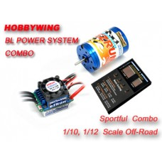 Hobbywing Ezrun 13.5T/3650KV + eZRun-60A-SL combo for 1/10 or 1/12 Car