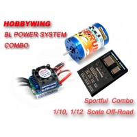 Hobbywing Ezrun 17.5T/3650KV + eZRun-60A-SL combo for 1/10 or 1/ 12 Car