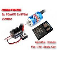 Hobbywing eZrun 12T/2030 motor 7800KV + eZRun-18A-SL ESC for 1/18 car