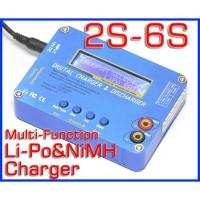 7.4V-22.2V 2S-6S Li-Po NiMH Battery Balance Charger B6 Blue