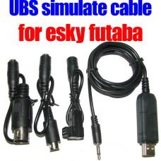 Reflex XTR USB Simulator Cable for Futaba and E_Sky R/C