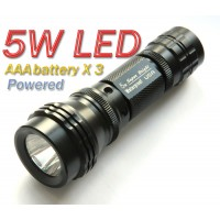 5 Watt 5W Luxeon LED Flashlight Torch AAA battery power