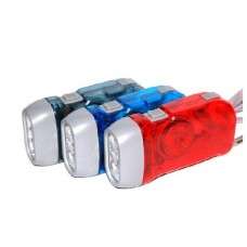 3 LED Dynamo Wind Up Flashlight Torch no battery need