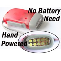 10 LED Hand pressed generation Flashlight Torch Light