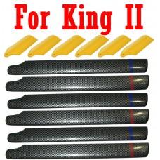 Esky Hobbybee King II Main blade + Tail blade set X3 BL