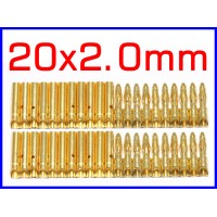2.0mm Gold Bullet Connector X 20 Sets for R/C battery