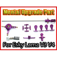Esky LAMA V3 V4 CNC Helicopter Upgrade Metal Head Set