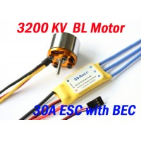 3200KV Brushless Motor + 30A ESC with BEC for plane helicoptor