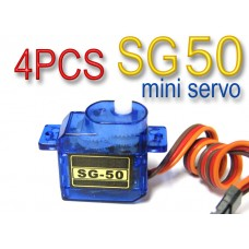 4 x Tower Pro mini Servo SG50 SG-50 5g R/C Helicopter Plane Boat