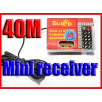 40MHZ 6 Channel mini RC Receiver support ESKY FUTABA