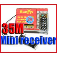 35MHZ 6 Channel mini RC Receiver support ESKY FUTABA
