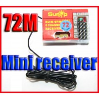 72MHZ 6 Channel mini RC Receiver support ESKY FUTABA