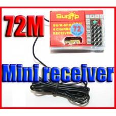 72MHZ 6 Channel mini RC Receiver support ESKY FUTABA