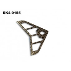 Horizontal Tail Blade( Carbon Fibre) 90*49*1mm   No: EK4-0155