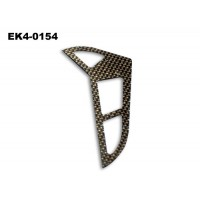 Vertical Tail Blade( Carbon Fibre)  118*69*1mm   No: EK4-0154