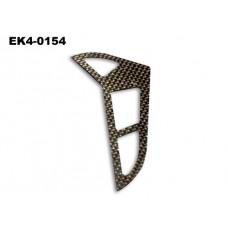Vertical Tail Blade( Carbon Fibre)  118*69*1mm   No: EK4-0154