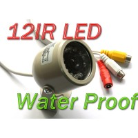 Day Night 12 LED Outdoor Color Waterproof CMOS Camera