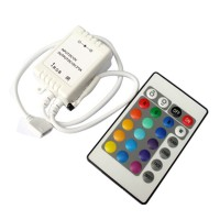 CL-C1210IR- 24 Keys RGB LED Controller for RGB Flexible LED Strip DC5V/12V/24V