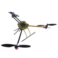 600mm Wheelbase X4 Glass Fiber+ Aluminium Quadcopter Aircraft with 130mm Landing Skid