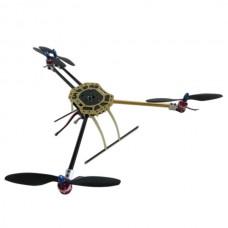 600mm Wheelbase X4 Glass Fiber+ Aluminium Quadcopter Aircraft with 130mm Landing Skid