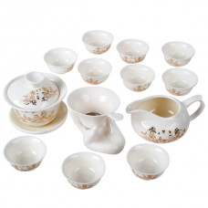 Ceramic Toy 14-Pieces Tea Set Cool Gift Collection with Exquisite Gift Box