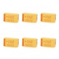 AVX 470UF E-Size 10V 7343 Tantalum SMD Capacitors 6-Pack
