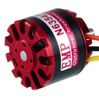 EMP Series High Efficiency N6354/15 200KV 4-10S Outrunner Brushless Motor for RC