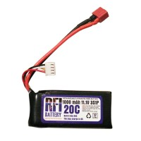 1000mAh 11.1V 20C 3S Lithium Battery Pack for RC Airplanes
