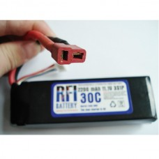 2200mAh 11.1V 30C 3S Lithium Battery Pack for RC Airplanes
