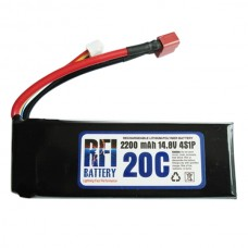 2200mAh 11.1V 20C 4S Lithium Battery Pack for RC Airplanes