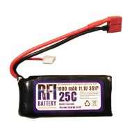 1000mAh 11.1V 25C 3S Lithium Battery Pack for RC Airplanes