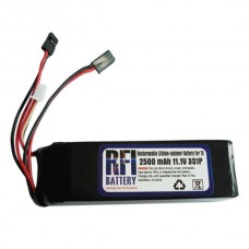 2500mAh 11.1V 3S Lithium Battery for FUTABA FF9 SKyfly 9Channel JR