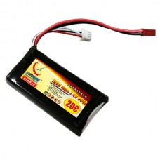 1000mAh 7.4V 20C 2S Lipo Battery Pack for RC Airplanes