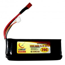 1500mAh 11.1V 20C 3S Lithium Battery Pack for RC Airplanes