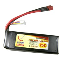 2200mAh 11.1V 25C 3S Lithium Battery Pack for RC Airplanes