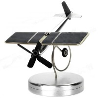 Solar Powered Aircraft Plane Kit with Base for Decoration at home or Car