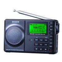Degen DE1129 FM/AM/SW Radio MP3 Player Recorder