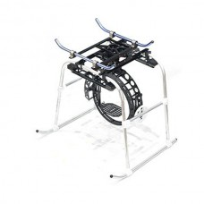 2-Axis Pan/Tilt/Roll Worm Control Camera Mount PTZ+ Landing Skid for 50-260 Helicopter FPV