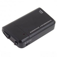 F02646 Black 3 X AA Battery USB Portable Emergency Charger for iphone ipod