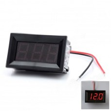 3-Digit Red LED Panel Voltmeter for Car Electric Motorcycle (DC 4.5~30V)