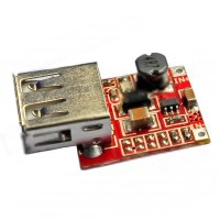 USB DC 2.5V to 6V Voltage Step Up Boost Module - Red