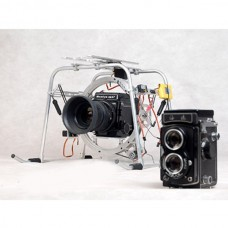 3-Axis Pan/Tilt Camera Mount PTZ with Tall Landing Skid for RJX 260JR260 Helicopter FPV