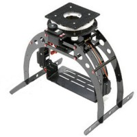 SIGMA FC3X-360CM Multirotor 3-Axis Pan/Tilt/Zoom Camera Mount w/4 Servos for FPV