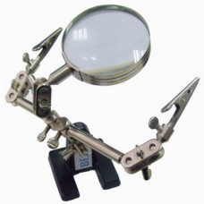 BEST-168Z Magnifying Glass Stand with 2 Croc Clips Repair Hardware and Tools